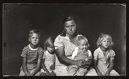Mother Seated with Her Four Children