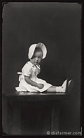 Crying Girl with Bonnet