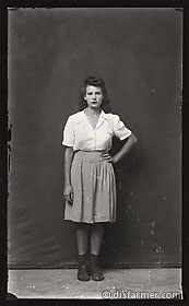 Young Woman with Hand on Hip