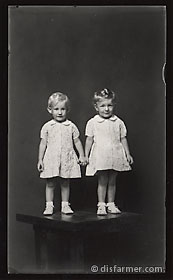 Two Young Girls Holding Hands