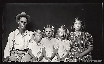 Man and Wife with Blond Children