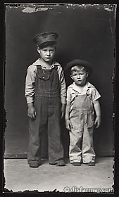Two Young Boys in Hats