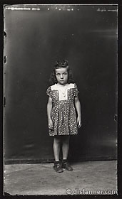 Young Girl in Polka Dot Dress