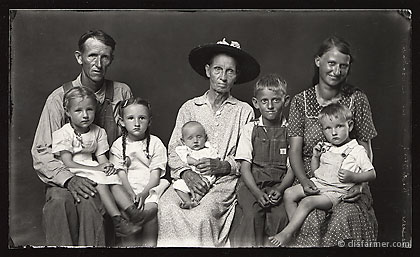 Man and Woman with Six Children