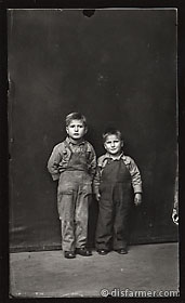 Two Boys in Overalls